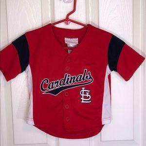 Genuine Merchandise 2T Cardinals Button Up Jersey